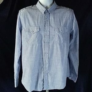 American Rag Blue Cotton Weave Shirt